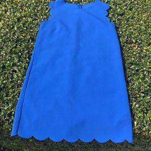 Minimalist electric blue mini dress Sz small